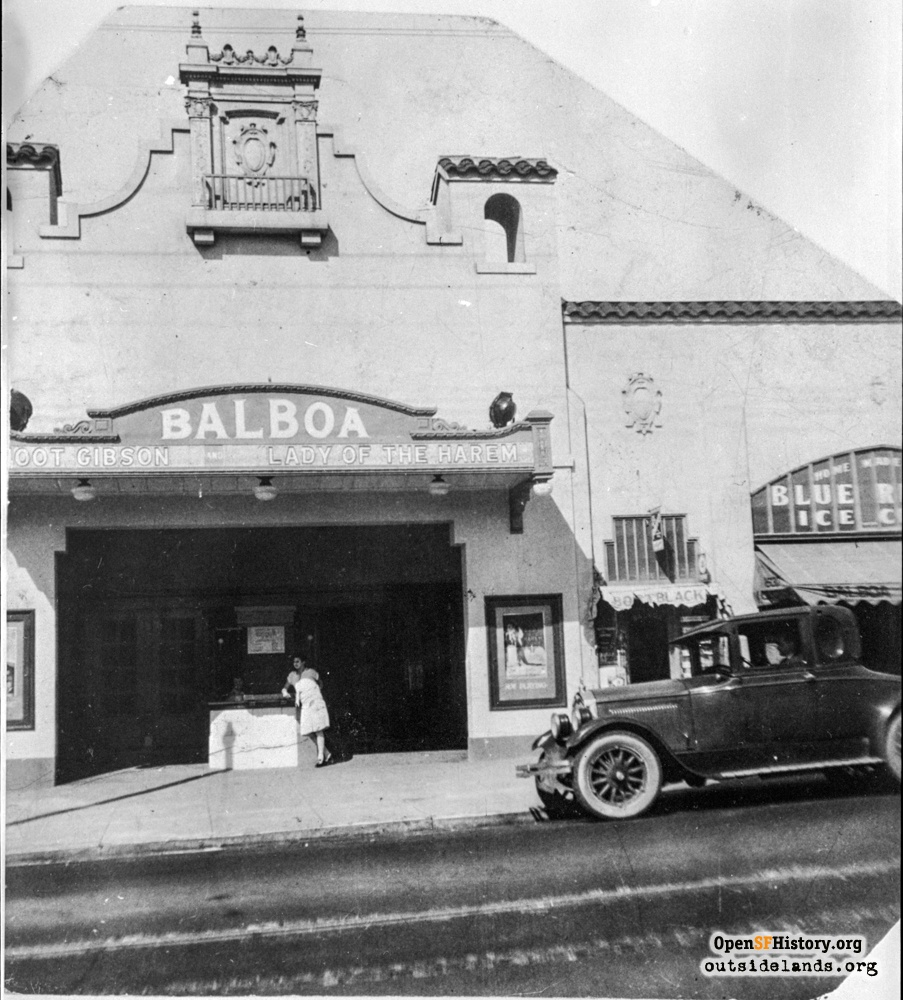 The Original Balboa Theater The Westwood Western Neighborhoods Project San Francisco History