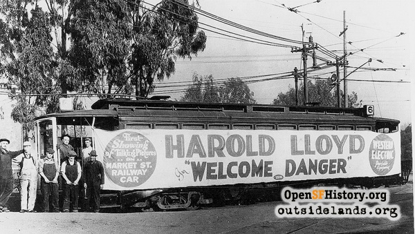 Harold Lloyd on the 6-line.