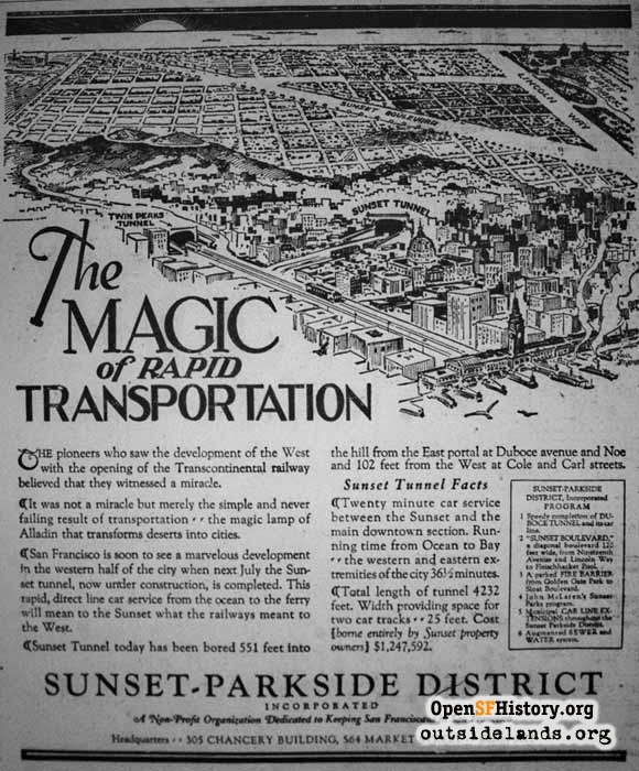Unbuilt Sunset Boulevard, 1926