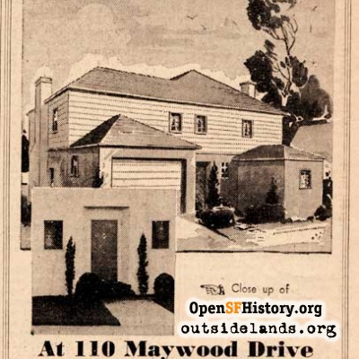 110 Maywood Drive ad, 1937