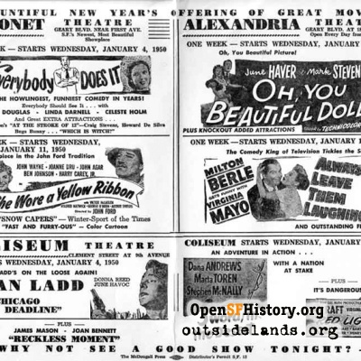 Theatre Advertisement Sheet