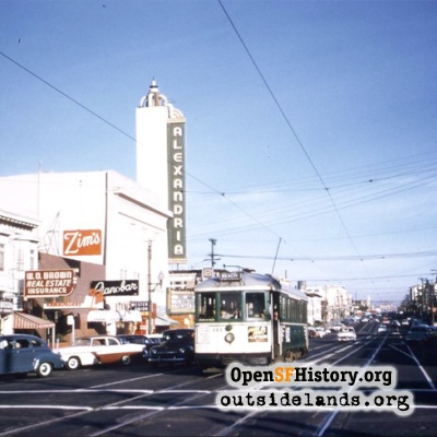 Geary and 19th Ave, 1956.