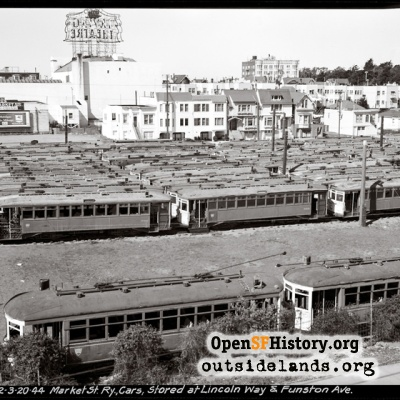 The Market Street Railway Boneyard, 1944