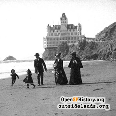 Cliff House Beach, 1900s