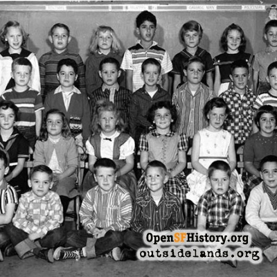 Juan Crespi School, 2nd Grade, 1958
