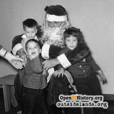 Santa at the Dunnigans, 1954