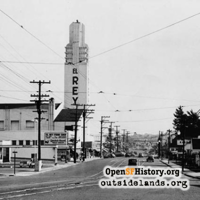 Ocean Avenue & El Rey Theater, 1940s