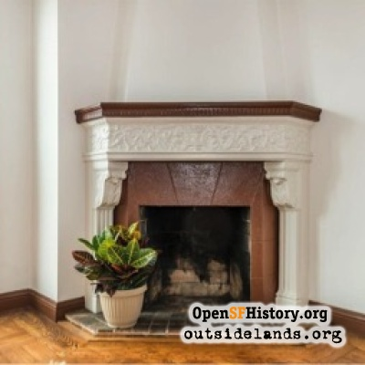 Fireplace in Parkside home, 2016
