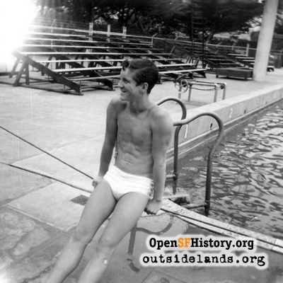 Swimmer at Fleishhacker Pool, 1960s?