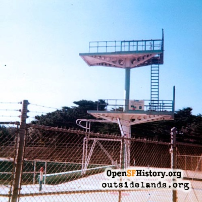 Diving Platform at Fleishhacker Pool, 1977