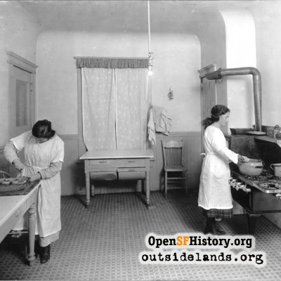 Homewood Terrace Orphanage Kitchen, 1920s