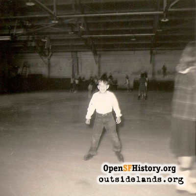 Skater at SF Ice Arena