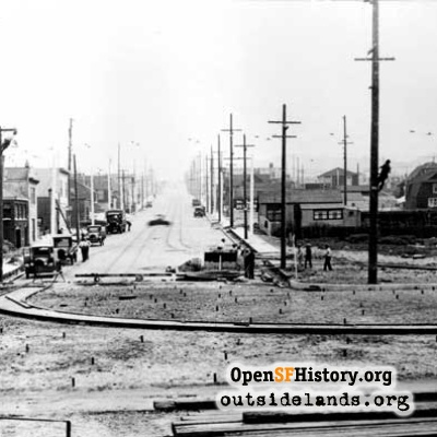 Judah Street and Great Highway, 1926.