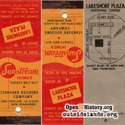Lakeshore Plaza Matchbook