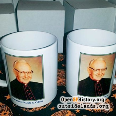 Mugs with Monsignor Collins photo