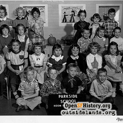 Parkside School, First Grade, 1954
