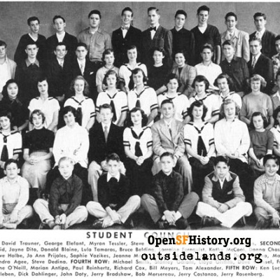 Presidio Junior High Student Council, 1950-51