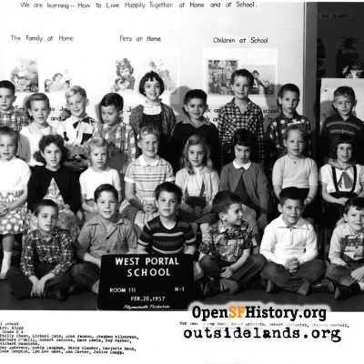 West Portal 1957 First Grade Spring