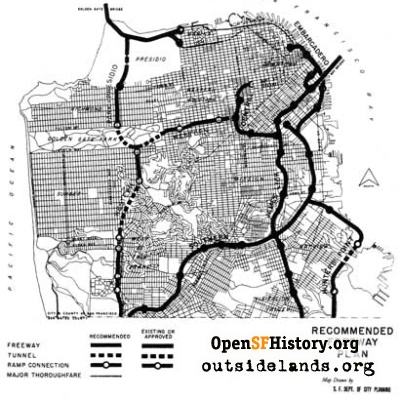 SF Freeway Plan, 1950s