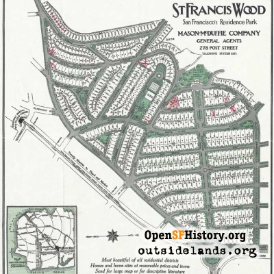 St. Francis Wood map, circa 1918
