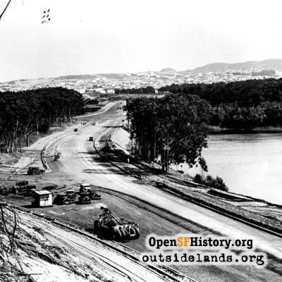 Skyline Blvd Construction, 1937