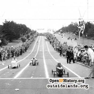 Soap Box Derby on Sunset Blvd