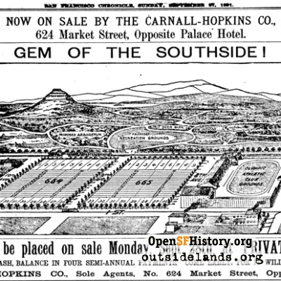 Inner Sunset ad 1891