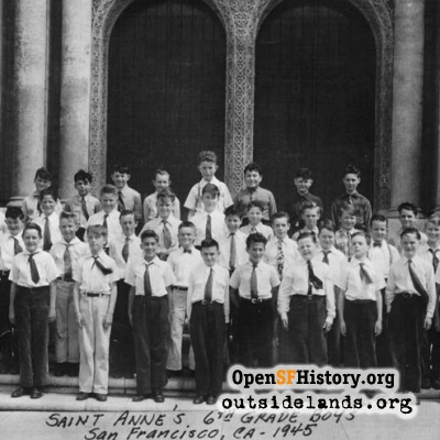 St. Anne's 6th Grade Boys, 1945