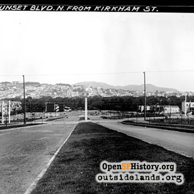 Sunset Boulevard near Kirkham, 1931