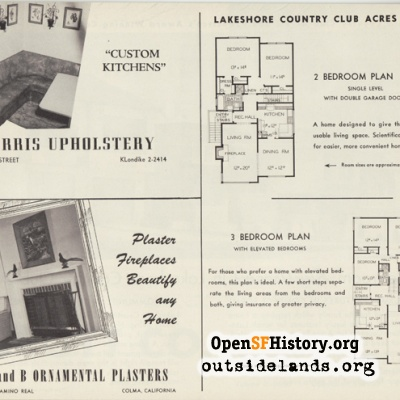 Floor plan of Country Club Acres home, 1950s