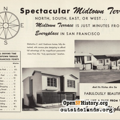 Midtown Terrace ad, 1950s