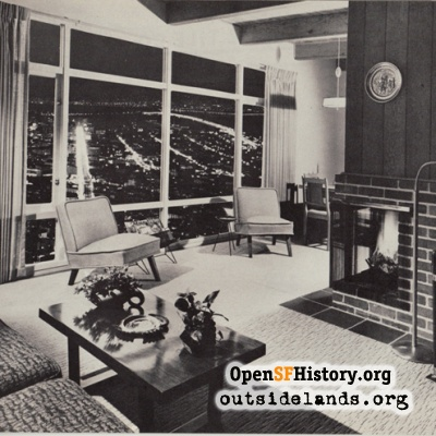 Midtown Terrace interior, 1950s