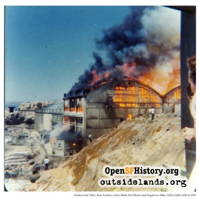 Sutro Baths Burning