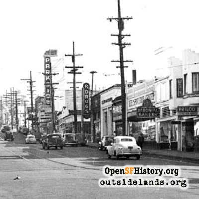 Taraval Street and 21st Avenue, 1947