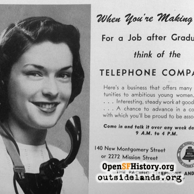 Pacific Telephone Ad, 1947