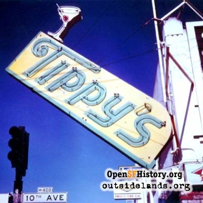 Tippy's Bar sign, 1980s