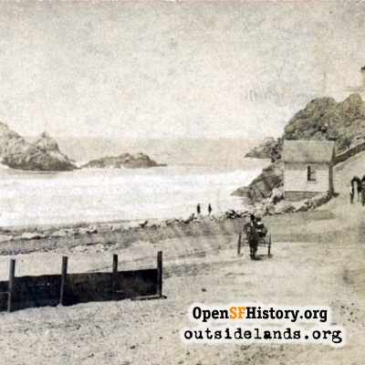 Cliff House and Seal Rocks, 1870s