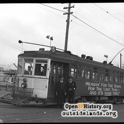 Last day of the 5 McAllister streetcar line