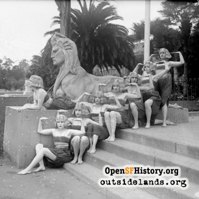 Sphinx and friends in Golden Gate Park