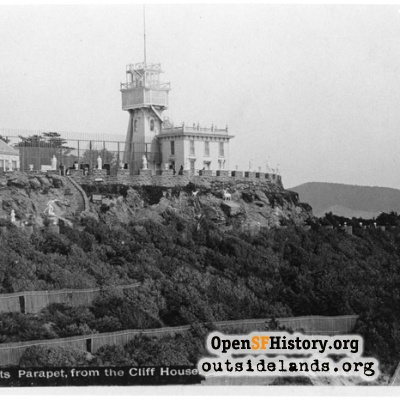 Sutro Heights. Parapet viewed from the Cliff House