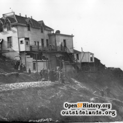 Cliff House. Damaged Cottage after explosion of Parallel