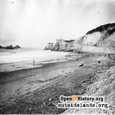 Ocean Beach before Esplanade construction