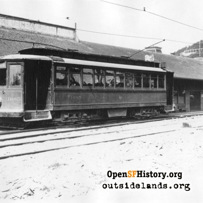 Terminus of the Park & Ocean Railroad, 49th & Balboa (La Playa).