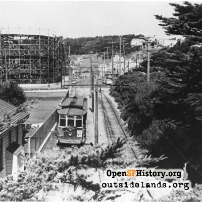 Streetcar right-of-way through Golden Gate Park
