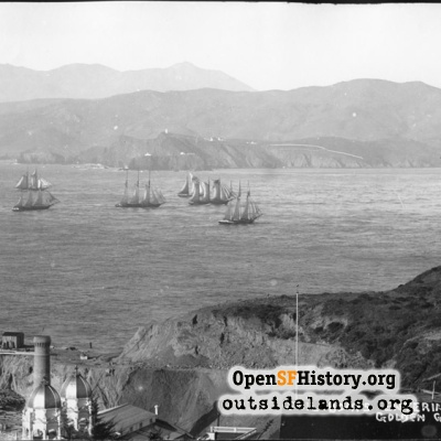 Sail Boats Entering the Golden Gate