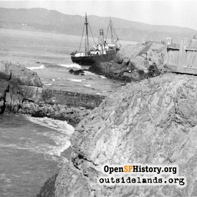 Wreck of the freighter Ohioan at Point Lobos