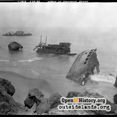 Point Lobos, wreck of the steamer SS Ohioan
