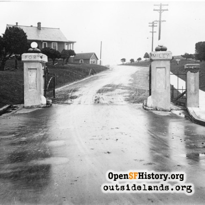 Fort Miley entrance gates, 43rd & Clement St.