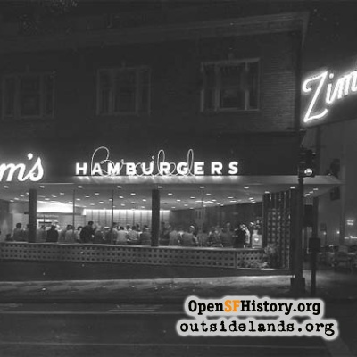 Zim's Broiled Hamburgers, 1957