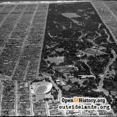Golden Gate Park and Kezar stadium